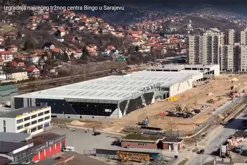 Tržni centar kompanije Bingo u Sarajevu na 44 000 kvadrata polako ...