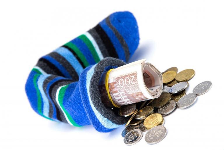 novac u čarapi
